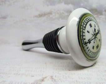 Nautical Compass Wooden Wine Bottle Stopper