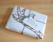 Reindeer pillowcase Screen print Christmas gift 'made to order'
