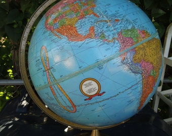 "Vintage 12"" Crams Imperial World Globe Old School Globe"
