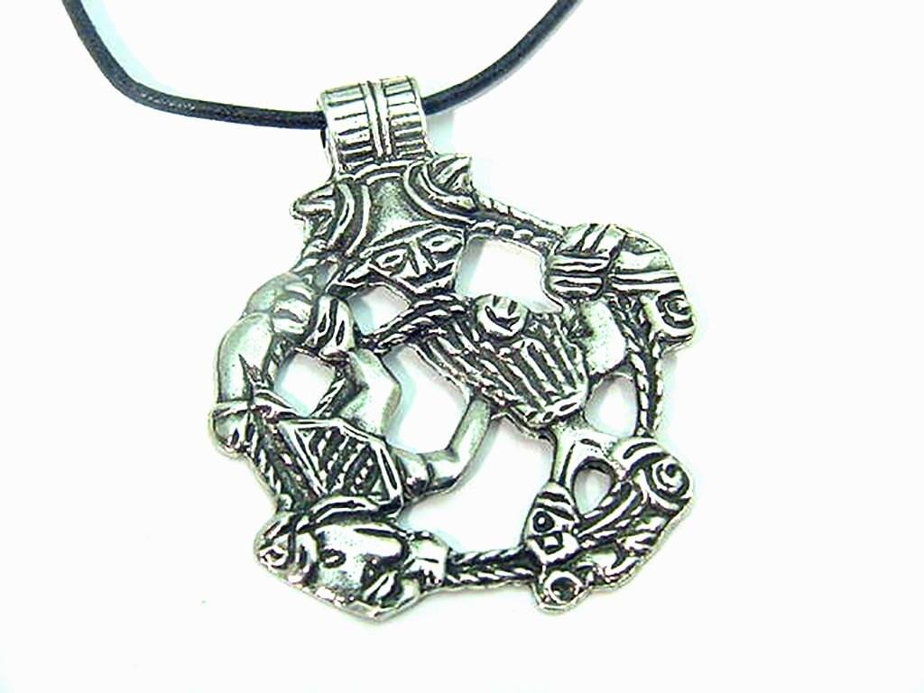 pewter loki underworld pendant or necklace norse sca pendant