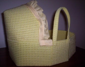 DOLL BASSINET with doll and accessories