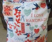 I Love Handmade Knitting Project Bag - Phat Fiber