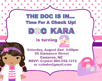 Doc Girl Birthday Invitation