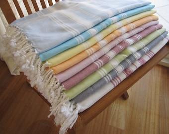 Bath and Beauty Peshtemal Turkey Turkish linen beach towel 100% Cotton soft Hamam,Pestemal Yoga,Spa,Shawl pareo, sarong