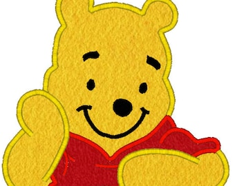 Bear Machine Embroidery Applique Design