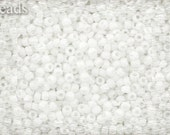 11/0 TOHO seed beads 10g Toho beads 11/0 seed beads Opaque White 11-761 Frosted Matte beads White seed beads last
