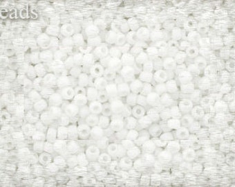 Size 11 TOHO seed beads 10g rocailles Opaque White Nr 11-761 11/0 Frosted Toho beads Matte seed beads Toho seed beads size 11 toho beads