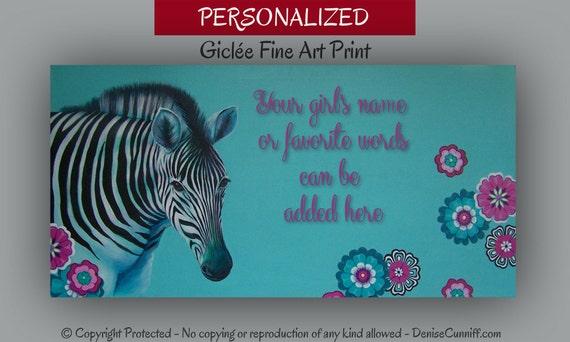 Teal blue girls room decor bedroom wall art zebra fine art for Blue zebra print bedroom ideas