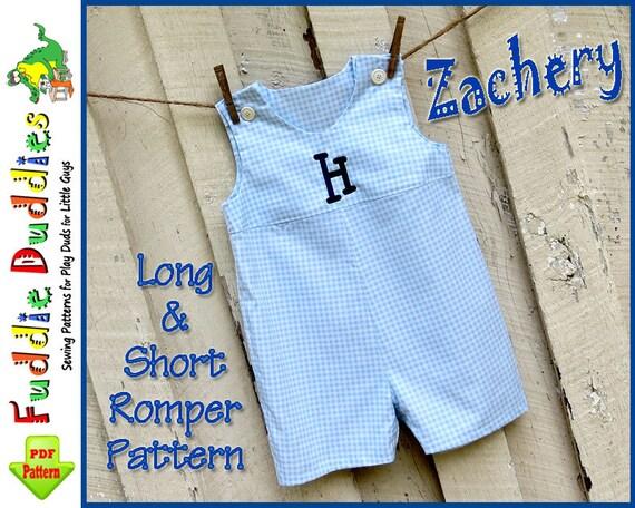 Baby Romper Pdf Pattern Jon Jon Pattern Baby By Fuddieduddies