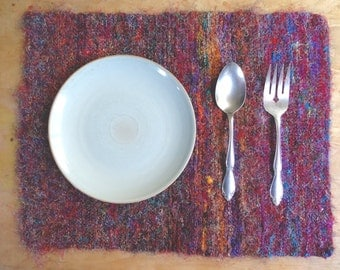 Recycled Sari Silk Placemat Towel