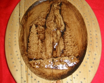 Grizzly Bear Cribbage Board