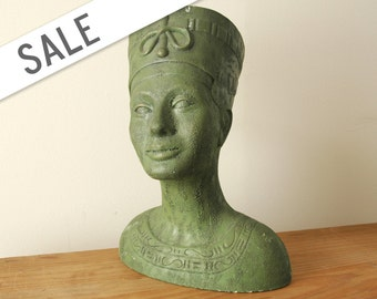 Vintage Bust of Nefertiti Egyptian Queen by Arnel's SALE