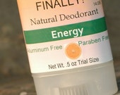 Finally! A Natural Deodorant that actually works - Trial Size Travel Size - Energy Citrus Scent  V14.08E