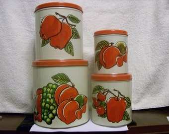 Canisters Set of 4 for Retro Kitchen