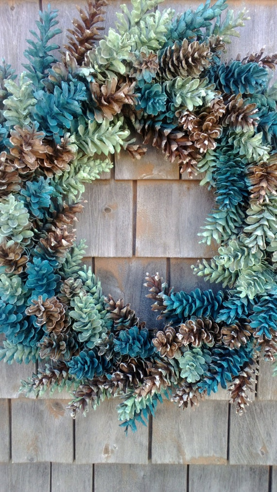 Christmas Craft With Wood Paint Pine Cones