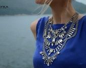 Aphrodite - Swarovski Crysts Wedding Necklace, Statement Necklace - Made to Order