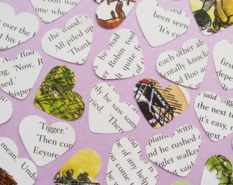 Winnie The Pooh Confetti Hearts - Choose from 100 or 250 - Baby Shower, Birthday Party, Christening Decor