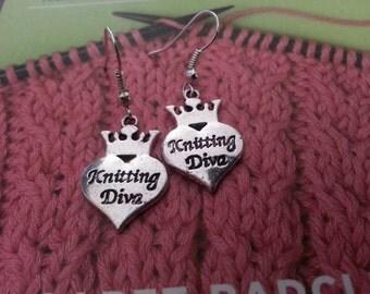 Knitting Diva Earrings
