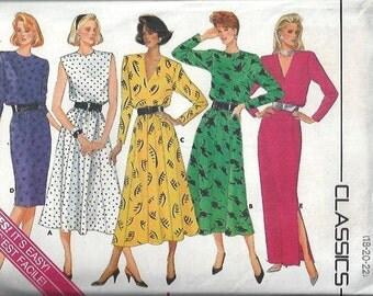 VTG Butterick 4102 Misses Pullover Dress Pattern, 4 Lengths, Size 18-22 UNCUT