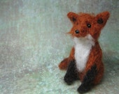 One of a Kind, Hand-crafted, Needle Felted Fox by Shiloh Lenz - Shiloh Winter Wubbies