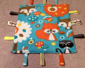 Friendly Forest Animals Tag Blanket