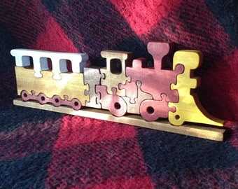 Color Train Puzzle made of Wood