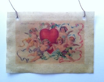 Beeswaxed Fabric Valentine