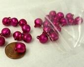 Dark Pink Bells 25 pieces 10mm Bell Charm Jewelry Supply Pink Jingle bells Craft Supplies Bells