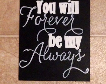 Custom Wedding Hand Painted Chalkboard