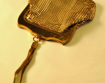 Whiting and Davis Vintage Gold  Bubble Mesh Wristlet - AMAZING