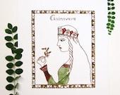 """Queen Nursery Art Print - """"Guinevere"""""""