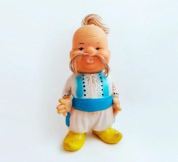 Vintage Rubber Toy Ukrainian Cossack, Ukraine Toy
