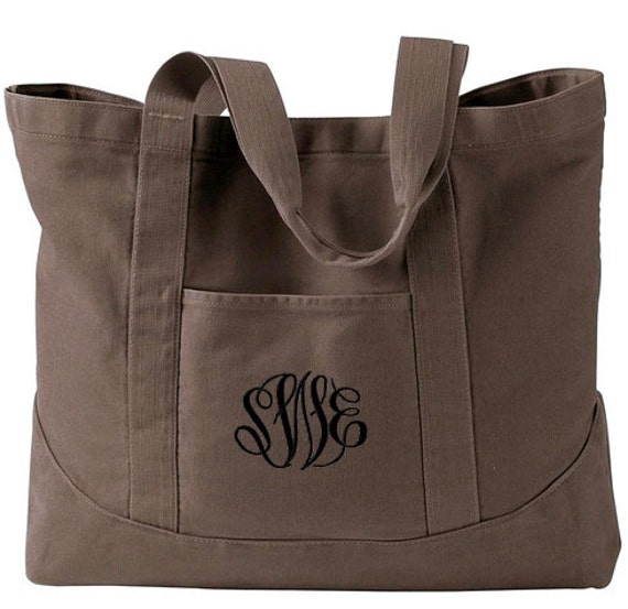 Monogram Tote Bag Personalized Tote Bag Monogrammed Tote