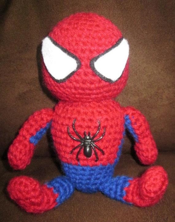 Crochet Amigurumi Spiderman : Items similar to Handmade Adorable crochet Amigurumi ...