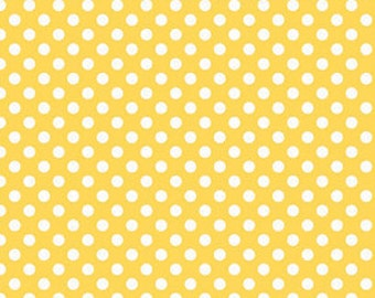 Riley Blake Fabric - 1/2 Metre Small Dots in Yellow
