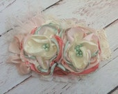Peach Tea Headband-Baby Girl Headband-Baby Headband-Persnickety Headband-Flower Girl Headband-Couture Headband