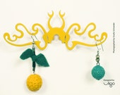 Butterfly Jewellery Hanger Yellow, Design #1