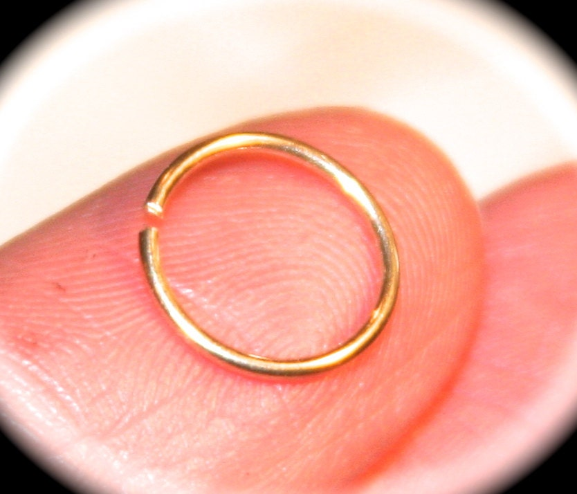 Extra Small 14k Yellow Gold Filled Nose Ring Cartilage