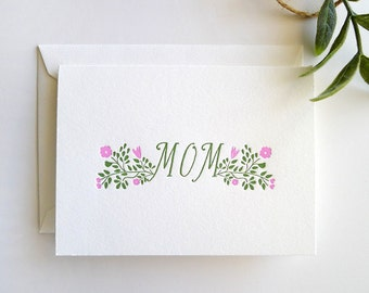 "Mother's Day ""Mom"" Letterpress Card - Single Card"