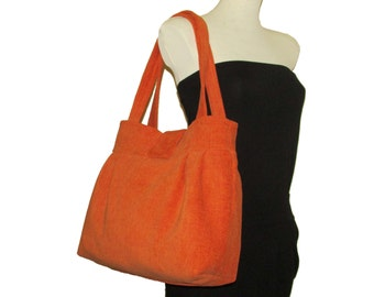 123- bag, purse,color orange, handmade