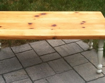 SOLD Refinished Country Bench/ Coffee Table