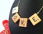 Love Scrabble Tile Necklace