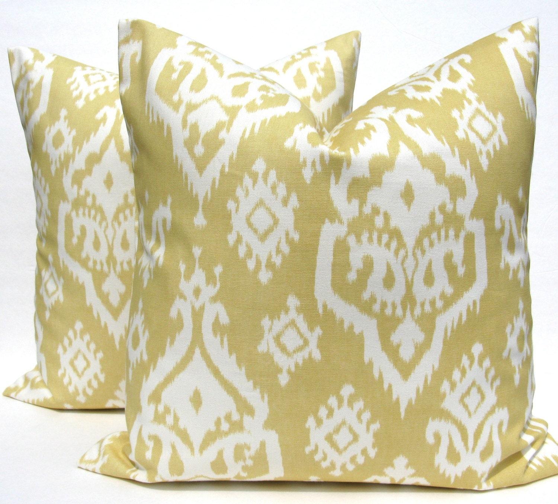 Gold Decorative Pillow Covers : Decorative Pillow Covers Yellow Pillow Gold Pillow Grey