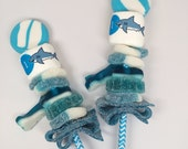 shark party favor Candy Cabob skewer personalized marshmallow boy party ideas under the sea party blue shark and sea animal blue lollipop