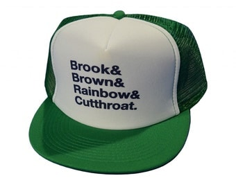 Trout Names - Fly Fishing Trucker Hat