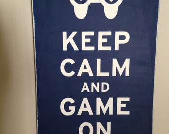 12x18  Keep Calm and Game On
