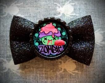 Zombie Cupcake Hair Bow