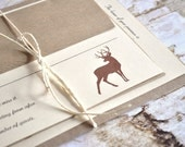 This is a custom listing for J. (38 Hunting Wedding Invitations Deer Wedding Invitations Hunt is Over)