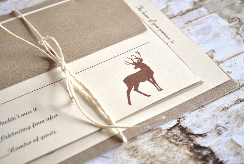 Deer Wedding Invitations: Hunting Wedding Invitations Deer Wedding Invitations Hunt Is
