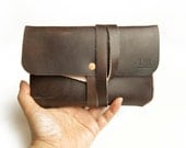 Small Pouch - Hand stitched, Leather, Veg-tan.